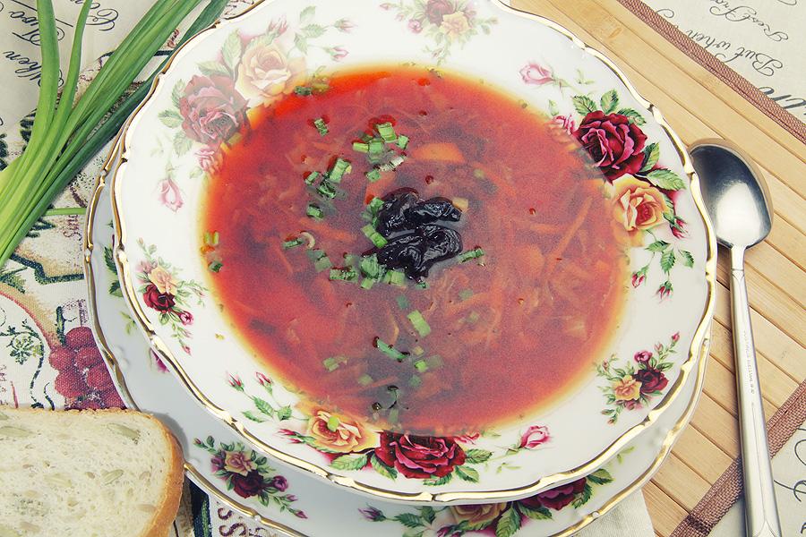 Борщ с черносливом, пошаговый рецепт с фото
