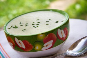 Крем-суп из стеблей чеснока