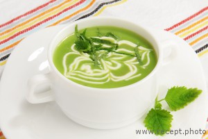 Крем-суп из сладкого горошка