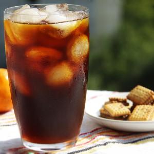 Холодный кофе со льдом