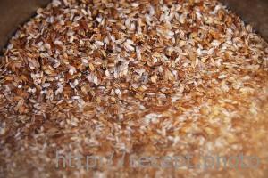 Промыть рис для плова