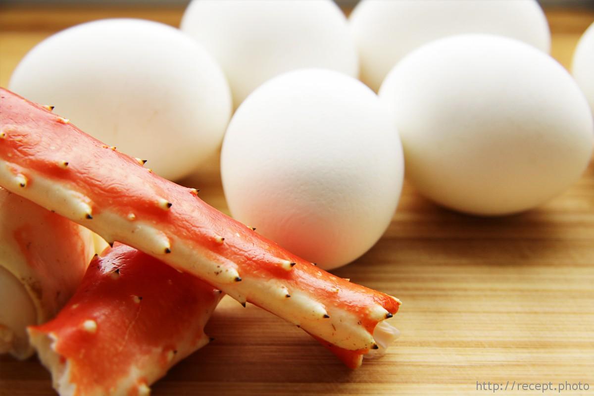 Краб и яйца