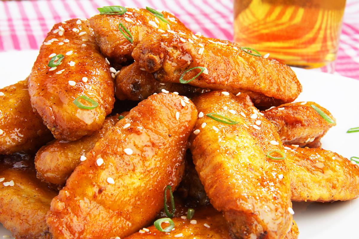 крылышки в горчично медовом соусе в духовке рецепт