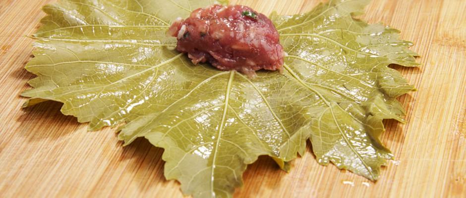 Готовим листья винограда